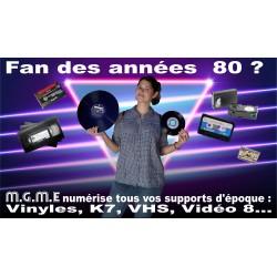 Numérisation Vinyles, K7, VHS, Video 8...